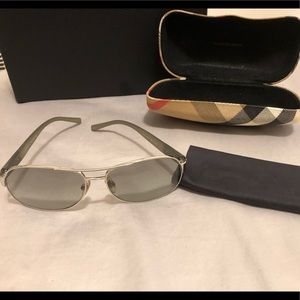 Burberry-Men's Aviator Sunglasses